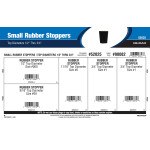 "Small Rubber Stoppers Assortment (Top Diameters 1/2"" Thru 3/4"")"