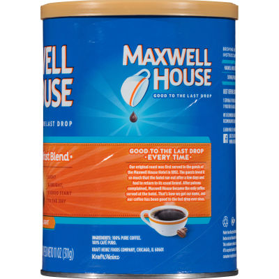 Maxwell House Breakfast Blend Ground Coffee 11 oz Can