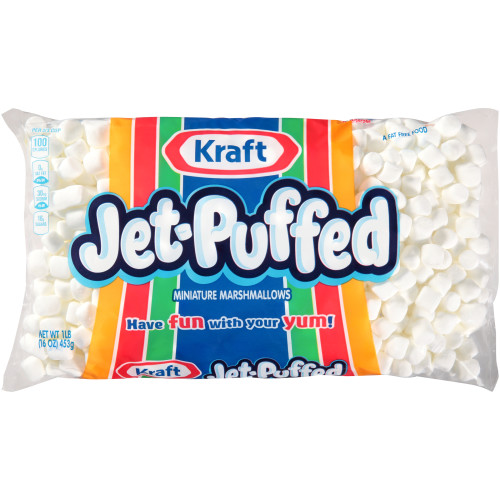 JET-PUFFED Mini Marshmallows, 16 oz. Bag (Pack of 12)