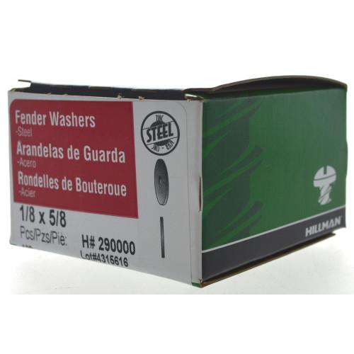 Zinc Fender Washers 1/8