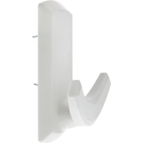 High & Mighty Decorative Double Hook White Plastic 20lb