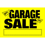 Hillman Garage Sale Sign With Money Graphics