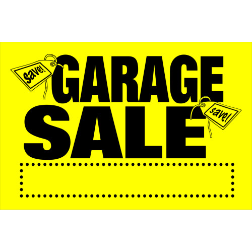 Hillman Garage Sale Sign 8
