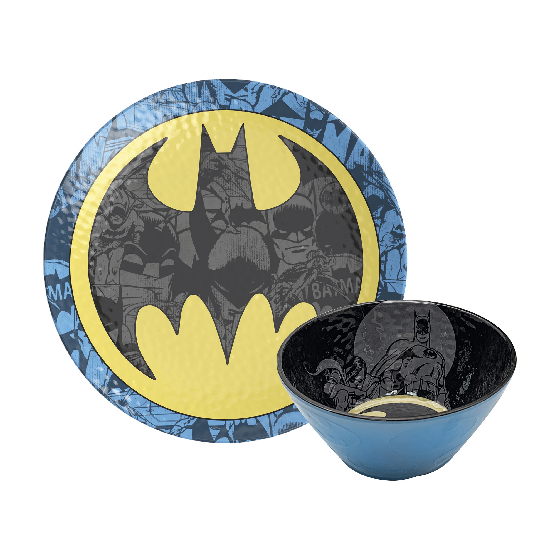 DC Comics Kids 9-inch Plate and 6-inch Bowl Set, Batman, 2-piece set slideshow image 1