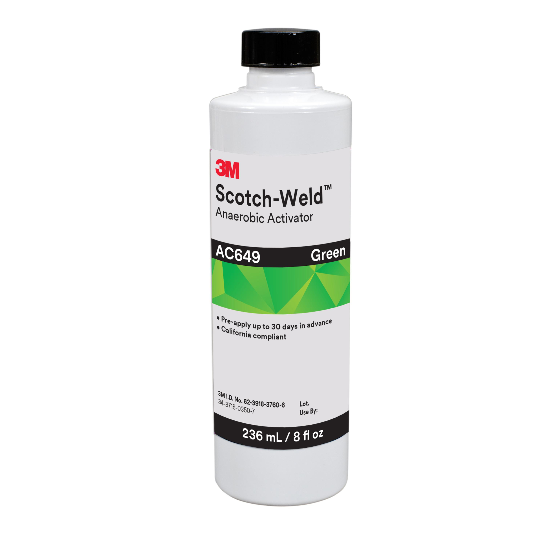 3M™ Scotch-Weld™ Anaerobic Activator AC649, Green, 8 fl oz Bottle, 4/case