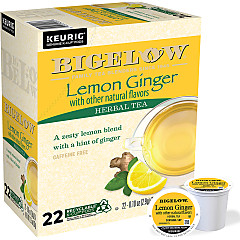 Lemon Ginger K-Cups - Case of 4 boxes - total of 88 k-cups