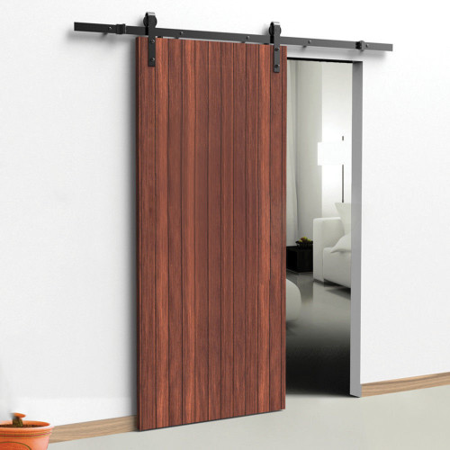 Black Side Mount Sliding Barn Door Hardware Kit