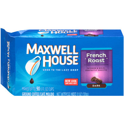 Maxwell House French Roast Ground Coffee, 11 oz