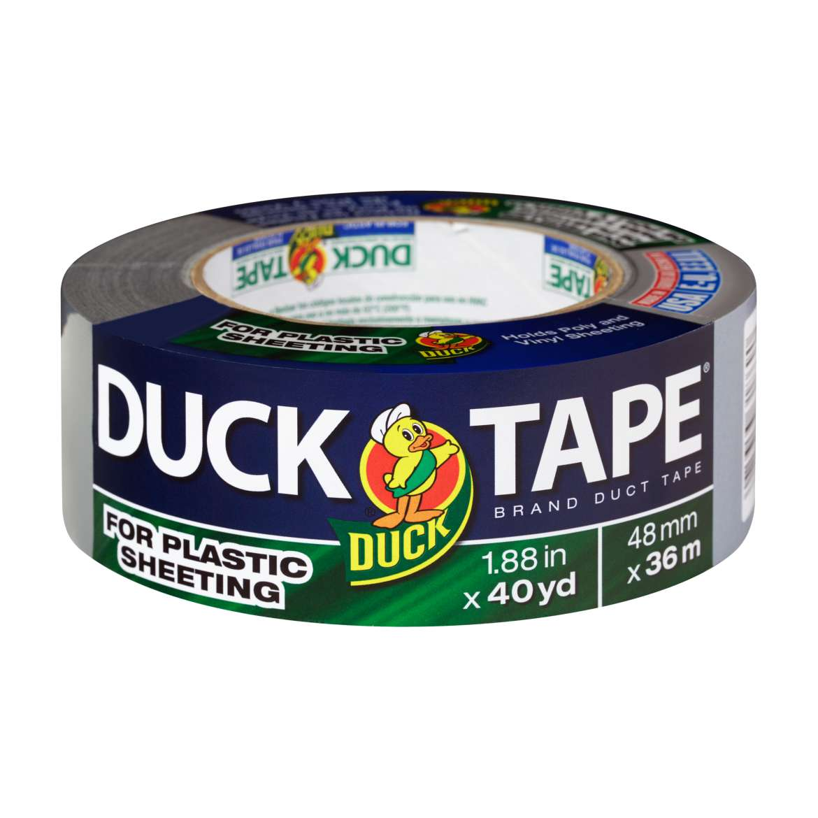 Duck® Brand Duct Tape For Plastic Sheeting - Silver, 1.88 in. x 40 yd. Image