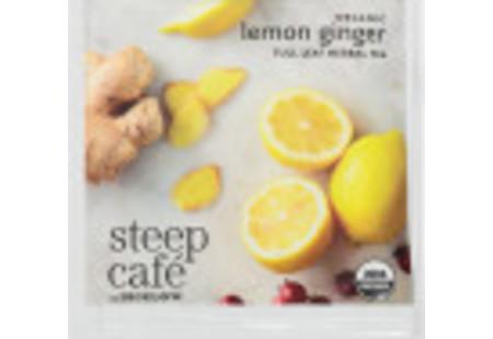 steep Café Organic Lemon Ginger Herbal Tea - Box of 50 pyramid tea bags