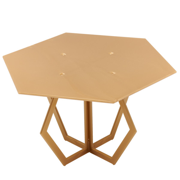 "Hexagon 8"" Gold Cake Stand"