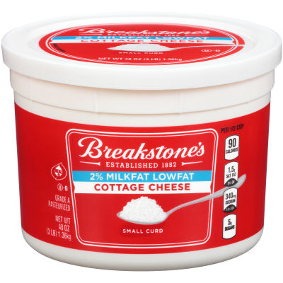 Breakstone's Small Curd 2% Low-fat Cottage Cheese 48 oz Tub