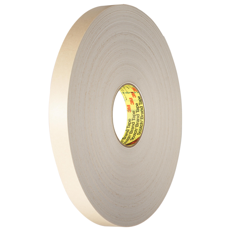 3M™ Double Coated Polyethylene Foam Tape 4492W, White, 1 1/2 in x 72 yd, 31 mil, 6 rolls per case