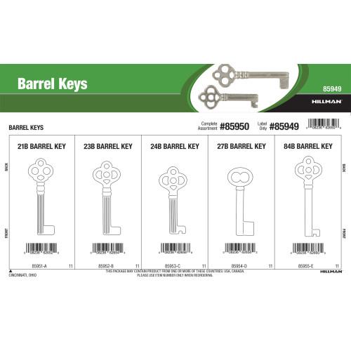 Furniture Barrel Keys Assortment