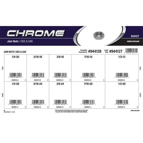 Chrome Jam Nuts Assortment (USS Coarse & SAE Fine)