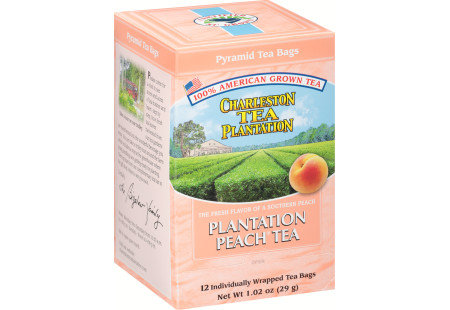 Peach Tea  Pyramid Bags- Case of 6 boxes- total of 72 teabags