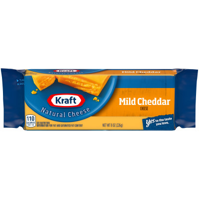 Kraft Mild Cheddar Natural Cheese 8 oz Wrapper