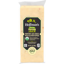 Hoffman's Organic Pepper Jack Cheese 7 oz Wrapper
