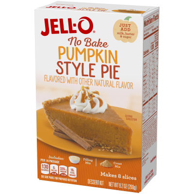 Jell-O No Bake Pumpkin Style Pie Dessert Mix, 9.2 oz Box