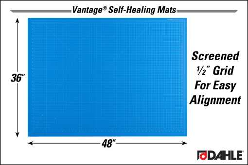 "Dahle Vantage® 36"" x 48"" Self-Healing Cutting Mat, Blue - InfoGraphic"
