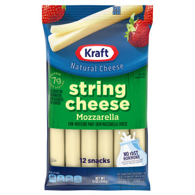 Kraft Low-Moisture Part-Skim Mozzarella String Cheese 12 count