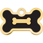 Gold with Black Epoxy Small Bone Quick-Tag