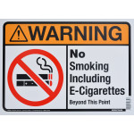 "Aluminum No Smoking Warning Sign 10"" x 14"""
