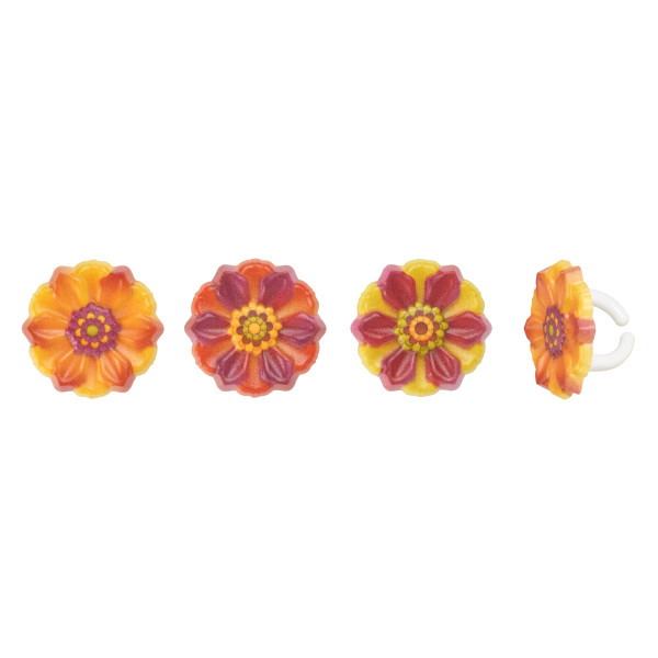 Fall Harvest Flower Cupcake Rings