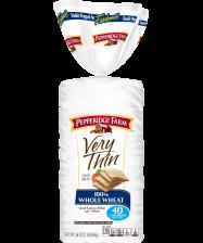 Pepperidge Farm® Very Thin 100% Whole Wheat Bread, toasted