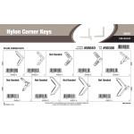 "Nylon Corner Keys Assortment (1/5"" & 3/10"" Width)"