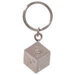 Jeweled Dice Key Chain