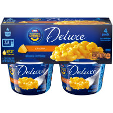 Kraft Deluxe Macaroni & Cheese Cups Original Cheddar Cheese, 4 – 2.39 oz Cups