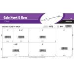 """Gate Hook & Eyes Assortment (1"""" Thru 4"""")"""
