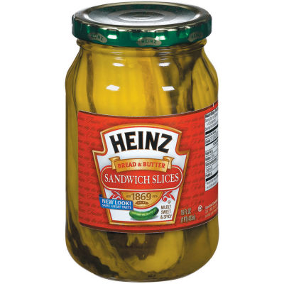 Heinz Bread'N'Butter Sandwich Slices Pickles 16 fl oz Jar