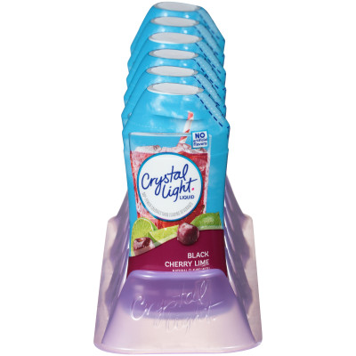 Crystal Light Liquid Black Cherry Lime Drink Mix 1.62 oz Bottle