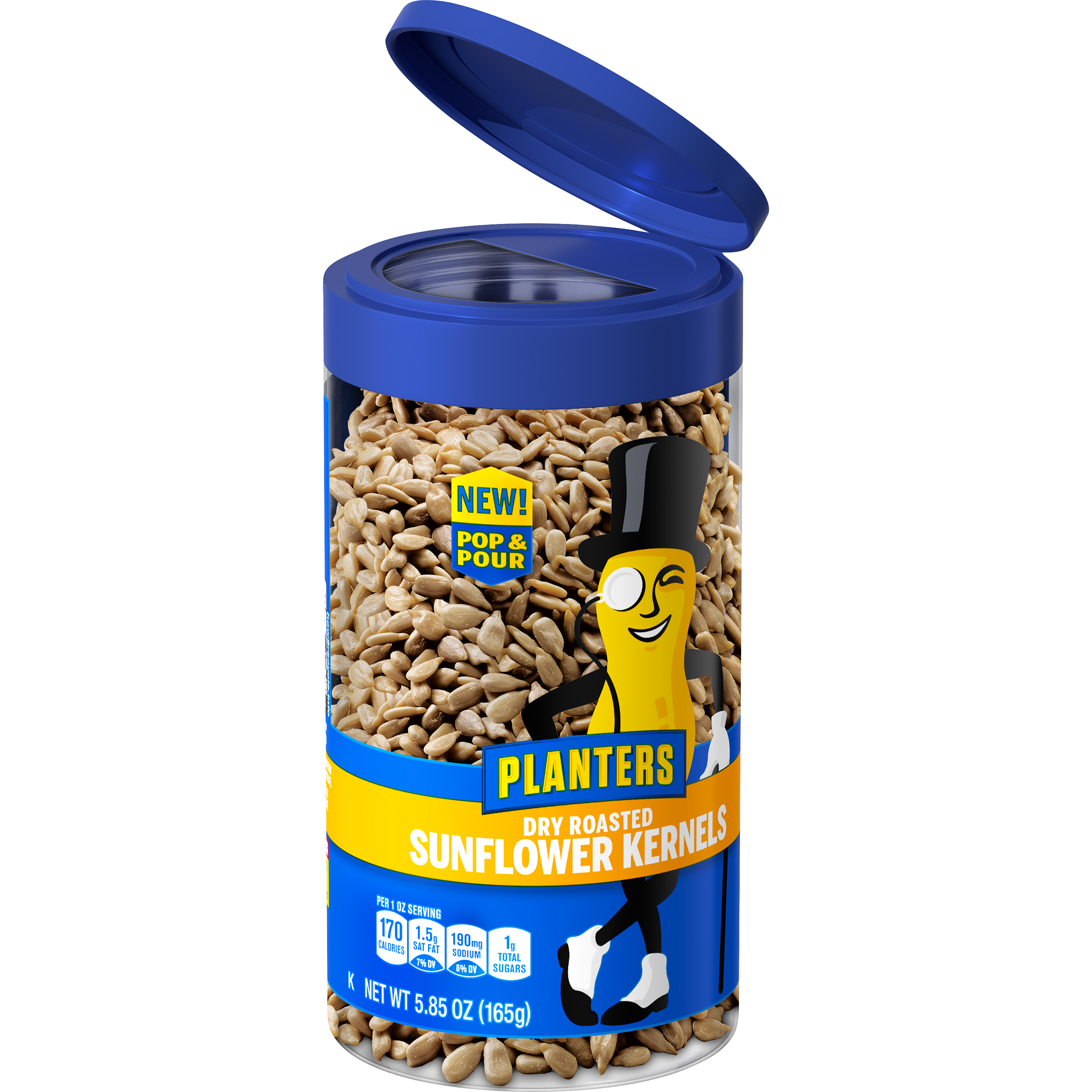 Planters Dry Roasted Sunflower Kernels 5.85 oz Jar image