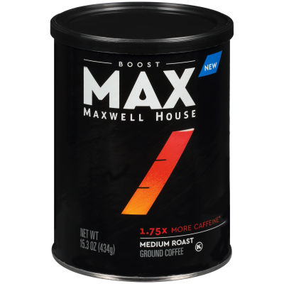 Maxwell House MAX Boost 1.75X more Caffeine 15.3 oz Can