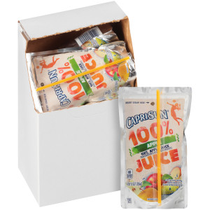 CAPRI SUN 100% Juice Apple Pouch, 6 oz. Pouches (Pack of 40) image