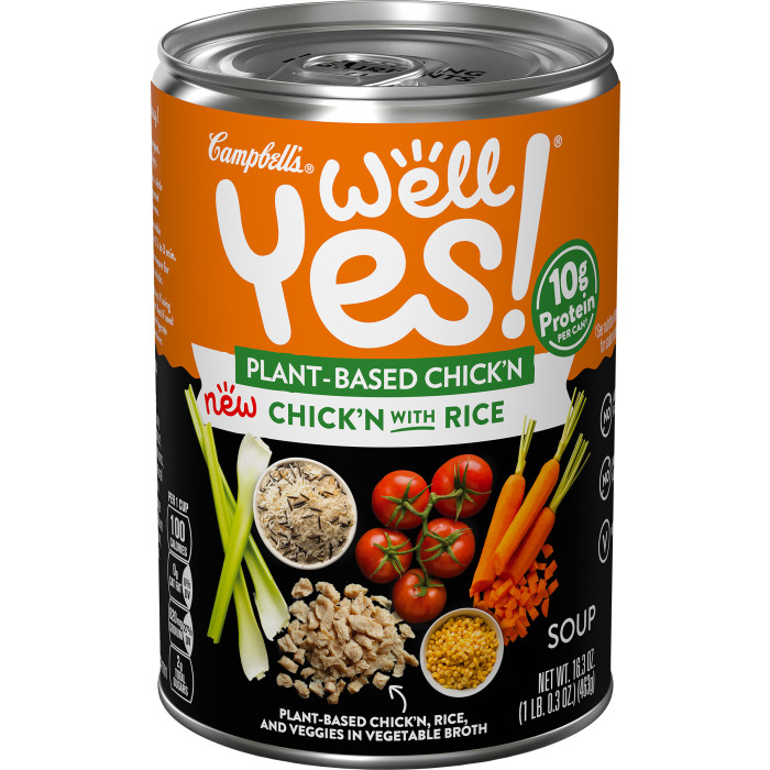 Vegetarian Chick'n Rice Soup