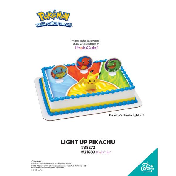 Pokémon™ Light Up Pikachu DecoSet® The Magic of Cakes® Page