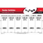 Single & Double-Pole Rocker Switches Assortment (10 & 15 Amp)