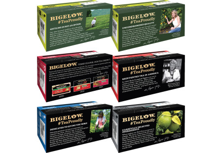 Tops of  of Mixed Case of Decaffeinated Teas - 6 boxes
