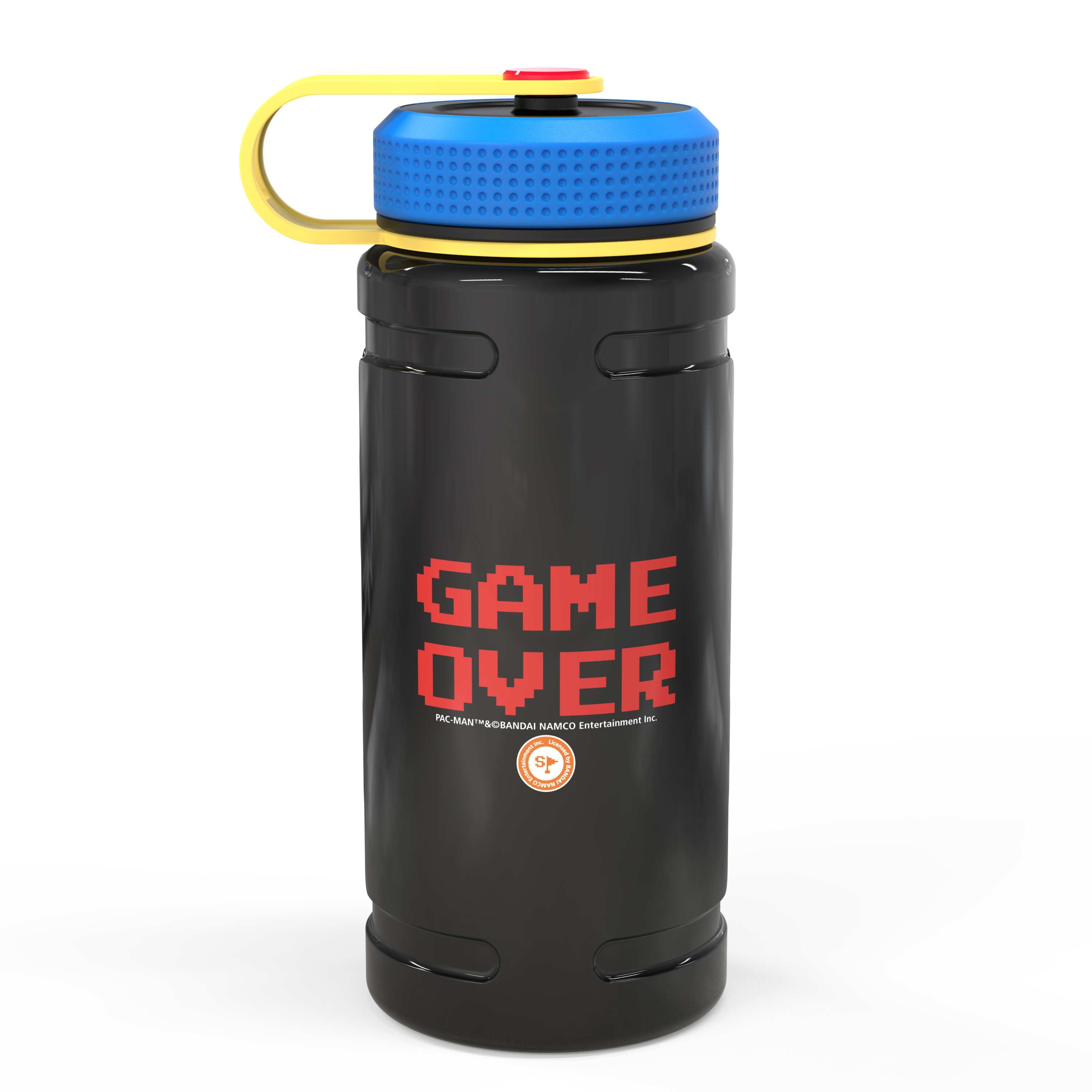 Retro Gaming 24 ounce Stainless Steel Insulated Water Bottle, Pac Man and Ghosts slideshow image 3