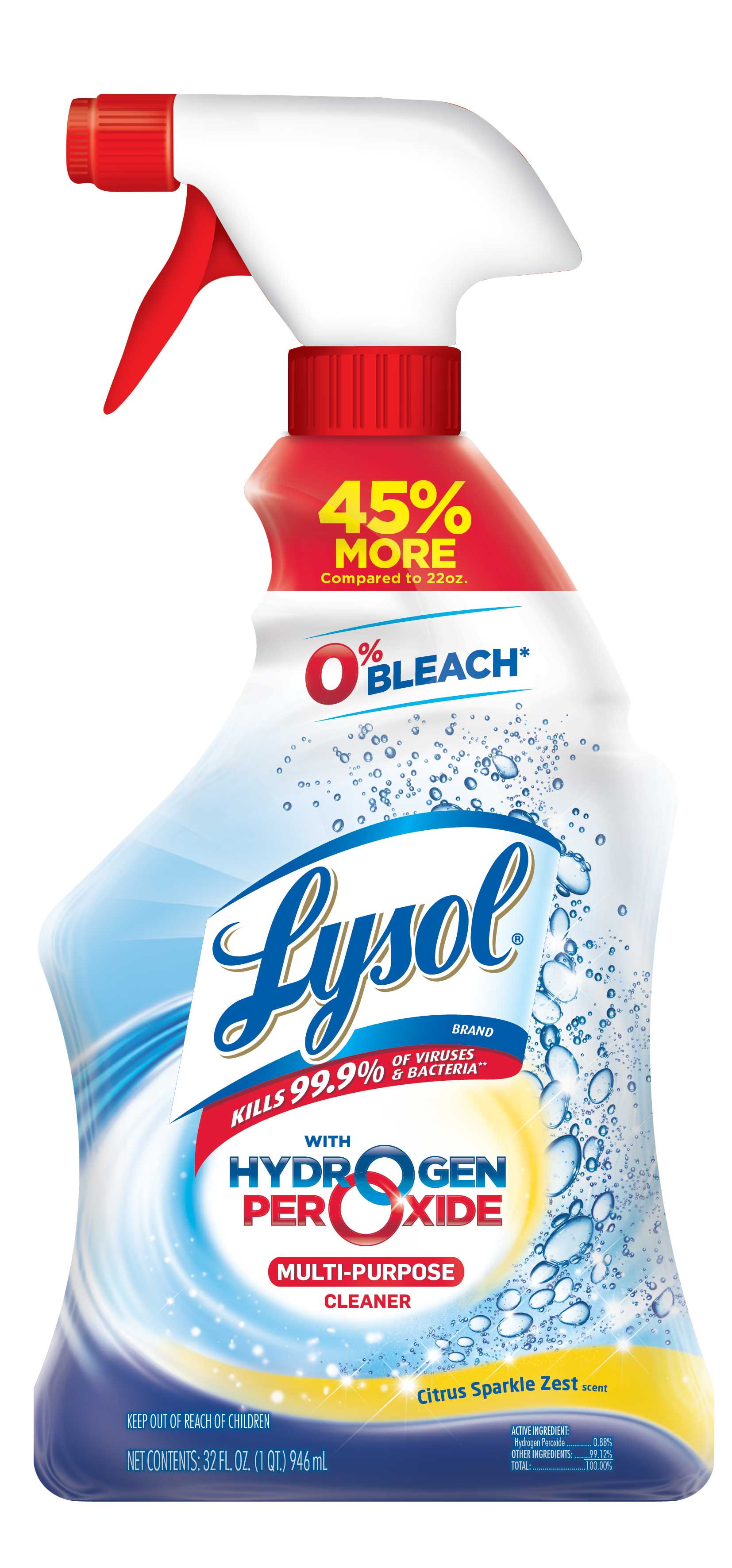 Lysol Bleach Free Hydrogen Peroxide Multi-Purpose Cleaner, Citrus 32oz