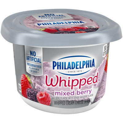 Philadelphia Whipped Mixed Berry Cream Cheese 7.5 oz Tub