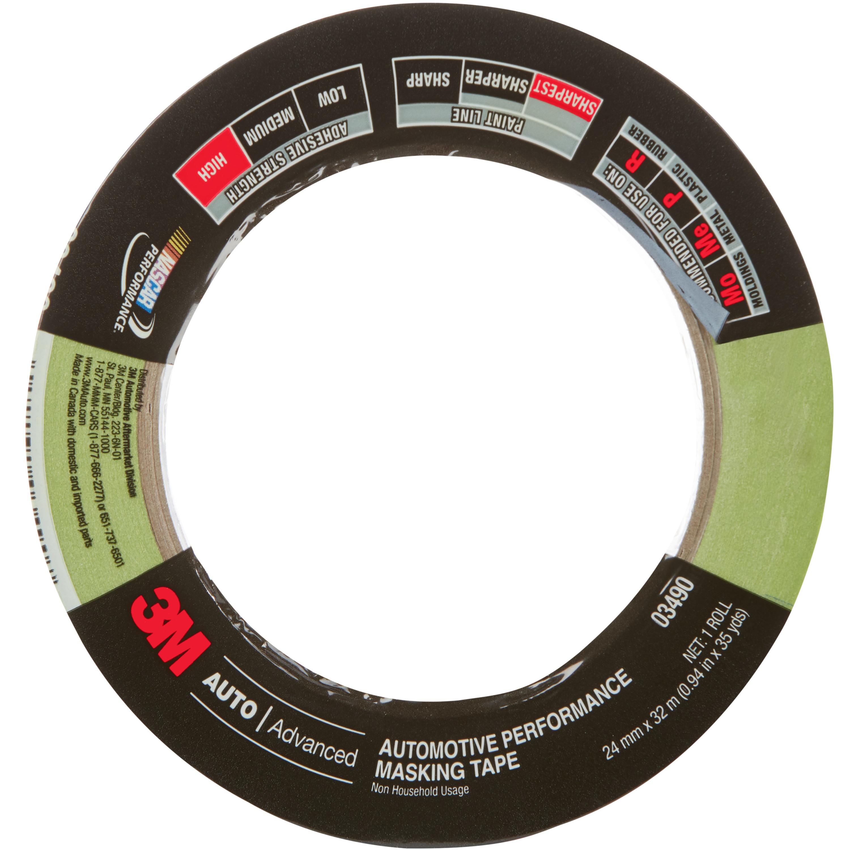 3M™ Automotive Performance Masking Tape, 03490, 24 mm X 32 m, 24 per case