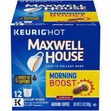Maxwell House Morning Boost Coffee K-Cup Pods, 12 count