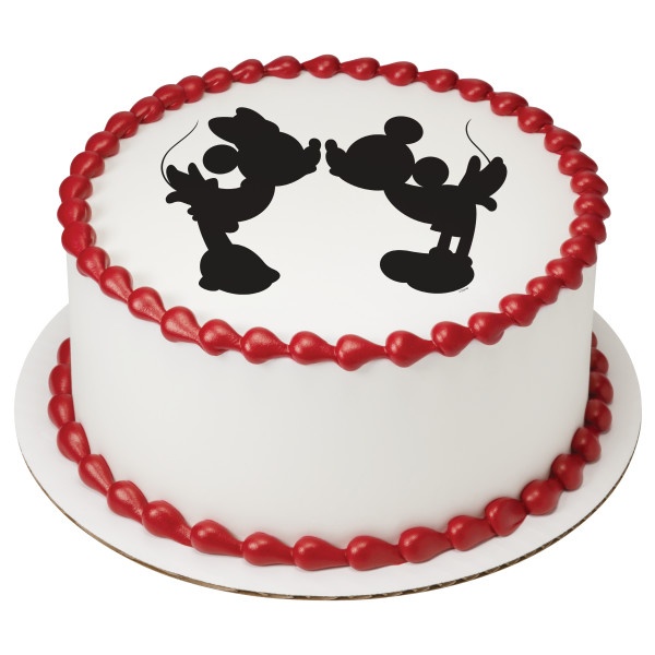 Mickey Mouse & Friends Mickey & Minnie Silhouette PhotoCake® Edible Image®
