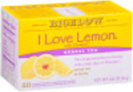 I Love Lemon Herbal Tea - Case of 6 boxes- total of 120 teabags