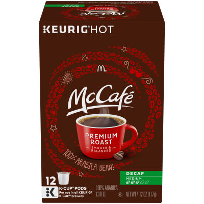McCafé Decaf Premium Roast Coffee K-Cup Pods 12 count